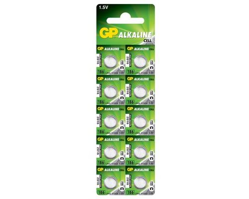 Батарейки GP таблетка 186-BC10 10 штук в упаковке - (573368К)