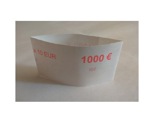 Кольцо бандерольное номинал 10 евро 40х79 мм 500 штук в упаковке - (551663К)