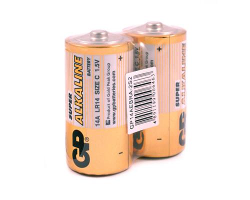 Батарейки GP Super средние C LR14 2 штуки - (222156К)