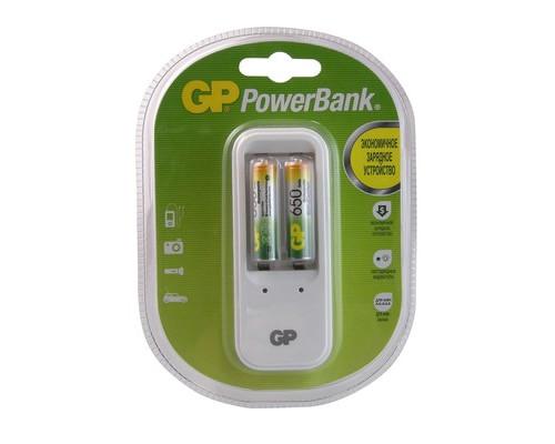 Зарядное устройство GP PB410GS65 для 2-х аккумуляторов АА/ААА в комплекте 2 аккумулятора ААА емкостью 650 mAh - (391075К)