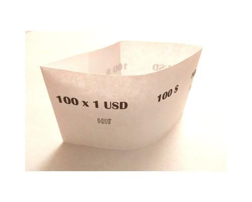 Кольцо бандерольное номинал 1 $ 40х76 мм 500 штук в упаковке - (604139К)