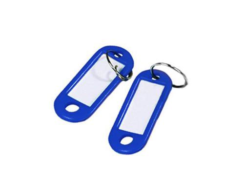 Бирки для ключей пластиковые синие 10 штук в упаковке - (313513К)