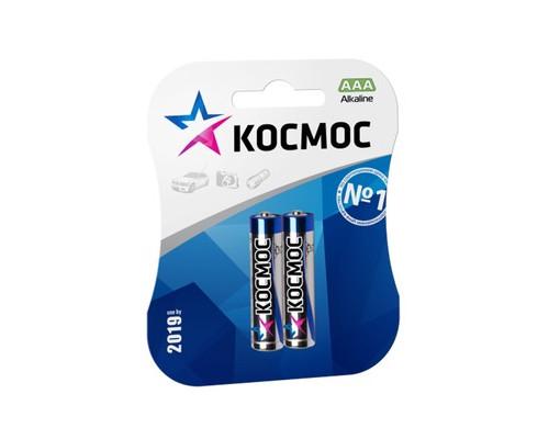 Батарейки Космос мизинчиковые ААА LR03 2 штуки в упаковке - (379911К)