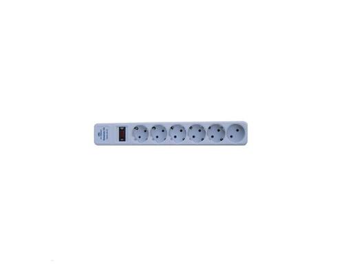 Сетевой фильтр-удлинитель ZIS с защитой от перегрузки 6 розеток 5 метров - (153048К)