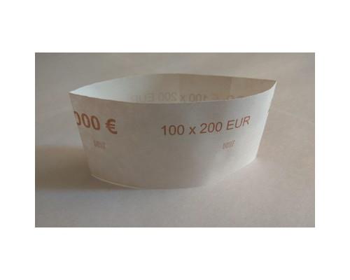 Кольцо бандерольное номинал 200 евро 40х93 мм 500 штук в упаковке - (551664К)