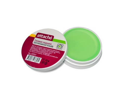 Подушка для смачивания пальцев гелевая Attache 25 мл - (220357К)