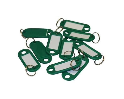 Бирки для ключей пластиковые зеленые 10 штук в упаковке - (147844К)