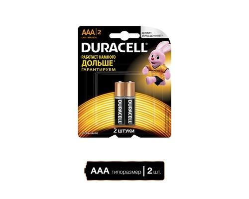 Батарейки Duracell Basic мизинчиковые ААA LR03 2 штуки в упаковке - (73516К)
