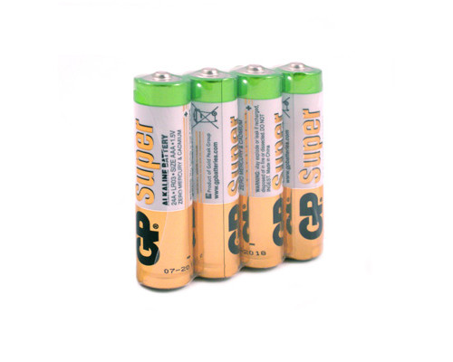 Батарейки GP Super мизинчиковые ААA LR03 4 штуки - (222158К)