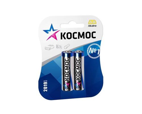 Батарейки Космос пальчиковые АА LR6 2 штуки в упаковке - (379913К)