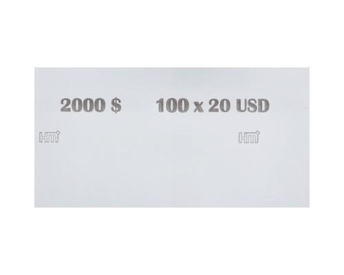 Кольцо бандерольное номинал 20 $ 40х76 мм 500 штук в упаковке - (604142К)