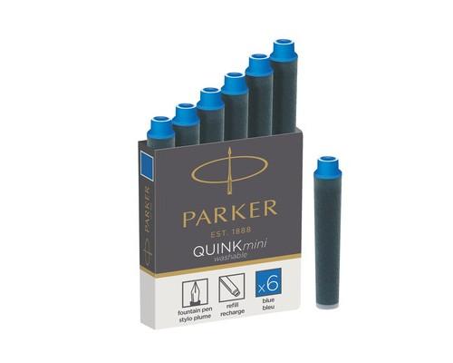 Чернила в патронах Parker синие мини 6 штук - (691266К)