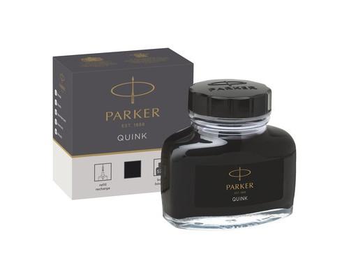Чернила Parker Quink черные 57 мл в стеклянном флаконе - (691261К)