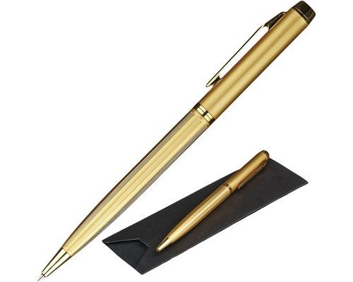 Ручка шариковая Verdie Mid-05 Classic синяя золотистый корпус - (491165К)