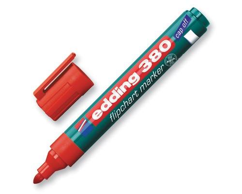 Маркер для флипчартов Edding E-380-2 cap off красный толщина линии 2.2 мм - (60779К)