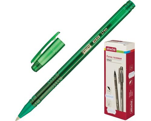 Ручка гелевая Attache Space зеленая толщина линии 0.5 мм - (326342К)