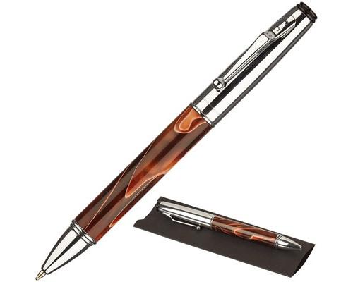 Ручка шариковая Verdie Monarch синяя хромированный корпус - (507602К)