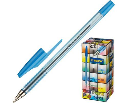 Ручка шариковая Beifa AA 927 синяя толщина линии 0.5 мм - (27778К)