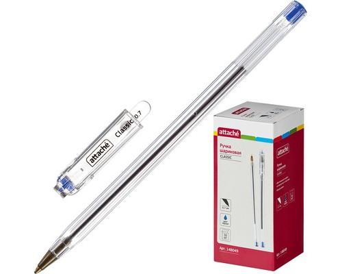 Ручка шариковая Attache Classic синяя толщина линии 0.7 мм - (148049К)