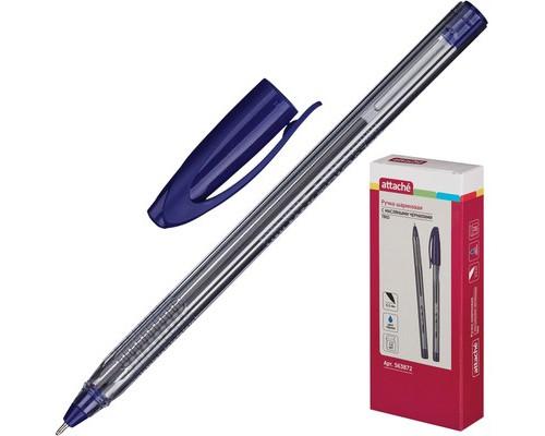 Ручка шариковая масляная Attache Trio синяя толщина линии 0.5 мм - (563872К)