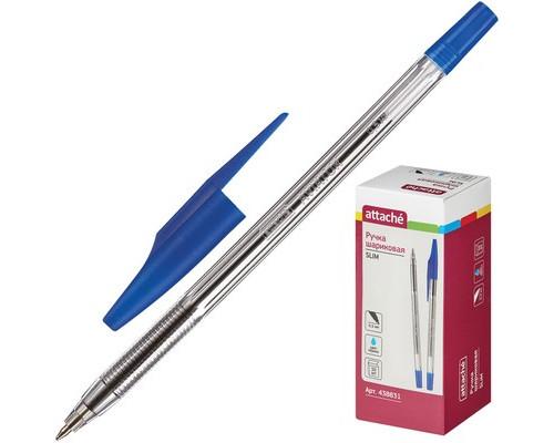 Ручка шариковая Attache Slim синяя толщина линии 0.5 мм - (438831К)