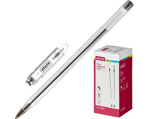 Ручка шариковая Attache Classic черная толщина линии 0.7 мм - (148050К)