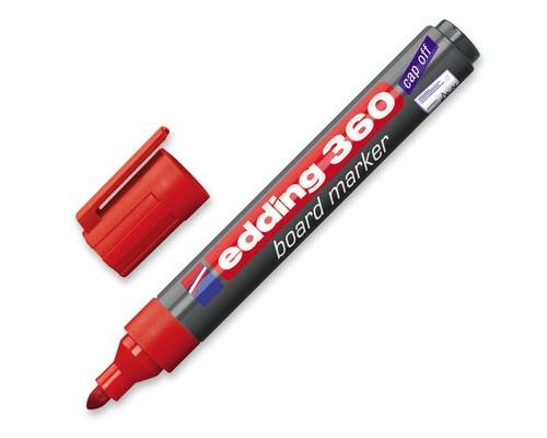 Маркер для досок Edding e-360-2 cap off красный толщина линии 1.5-3 мм - (31830К)