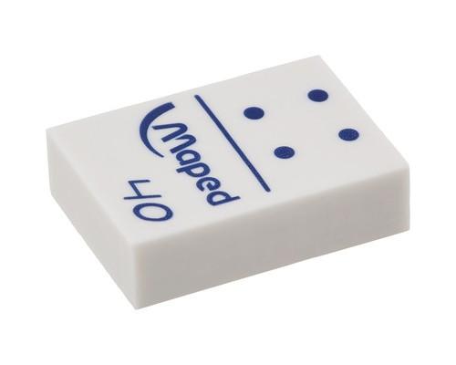 Ластик Maped Domino виниловый белый 32x22x10 мм - (329383К)