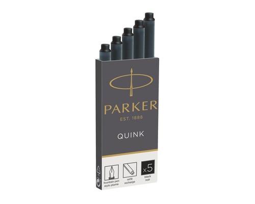 Чернила в патронах Parker черные 5 штук - (691263К)
