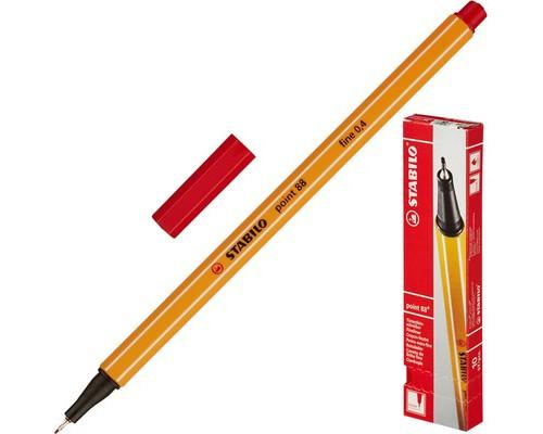 Линер Stabilo Point 88-40 красный толщина линии 0.4 мм - (78563К)