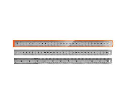 Линейка Tukzar металлическая двухсторонняя 30 см - (514967К)