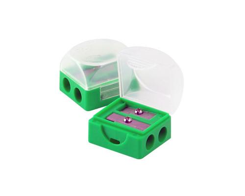 Точилка Attache двойная с контейнером в ассортименте - (138709К)