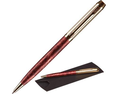 Ручка шариковая Verdie Ve-15 Matrix синяя бордовый корпус - (483466К)