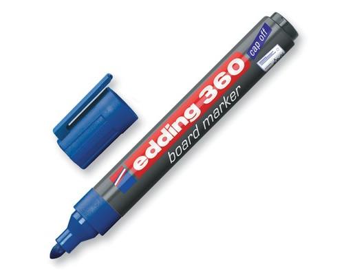 Маркер для досок Edding e-360-3 cap off синий толщина линии 1.5-3 мм - (31831К)