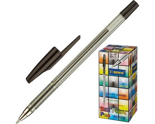 Ручка шариковая Beifa AA 927 черная толщина линии 0.5 мм - (135588К)