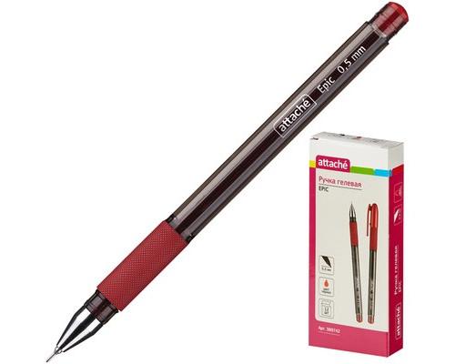 Ручка гелевая Attache Epic красная толщина линии 0.5 мм - (389742К)