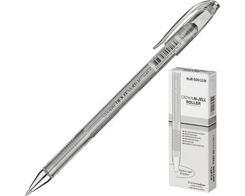 Ручка гелевая Crown серебристая толщина линии 0.7 мм - (505685К)