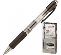 Ручка гелевая автоматическая Crown AJ-5000R черная толщина линии 0.7 мм - (218852К)
