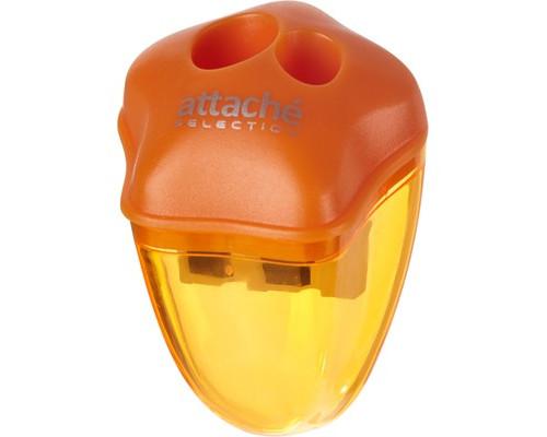 Точилка Attache Selection двойная с контейнером оранжевая - (325552К)