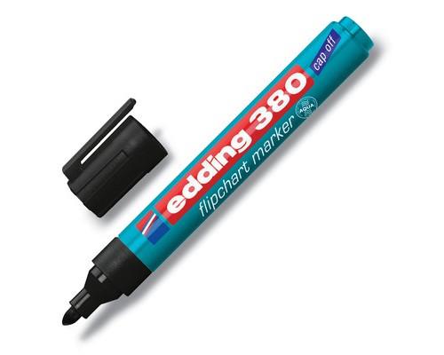Маркер для флипчартов Edding E-380-1 cap off черный толщина линии 2.2 мм - (43840К)