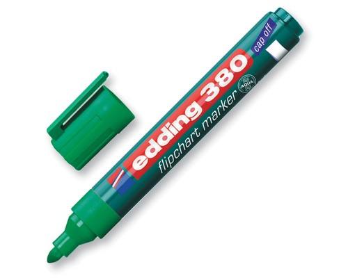 Маркер для флипчартов Edding E-380-4 cap off зеленый толщина линии 2.2 мм - (60781К)