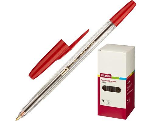 Ручка шариковая Attache Corvet красная толщина линии 0.7 мм - (447475К)