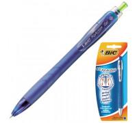 Ручка гелевая автоматическая BIC ReAction синяя прорезиненный корпус толщина линии 0.35 мм - (105990К)