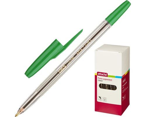 Ручка шариковая Attache Corvet зеленая толщина линии 0.7 мм - (447476К)