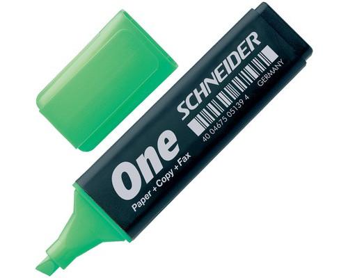 Текстовыделитель Schneider One зеленый толщина линии 1-4.5 мм - (77989К)