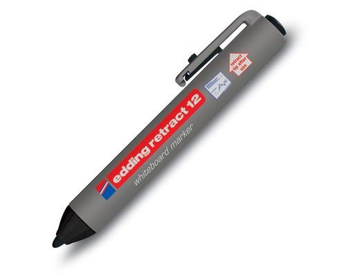 Маркер для досок Edding retract 12-1 автоматический черный толщина линии 1.5-3 мм - (87755К)