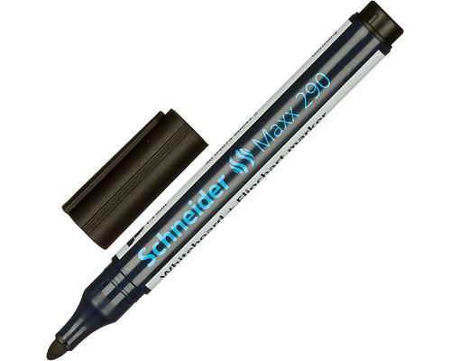 Маркер универсальный для досок и флипчартов Schneider S290 черный 2 мм - (98047К)