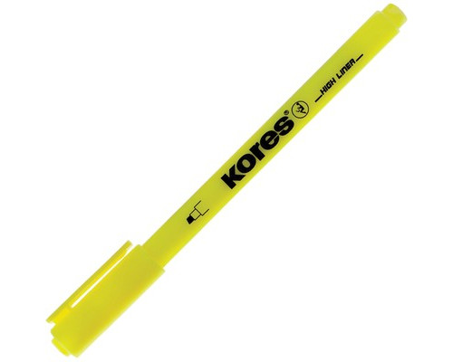 Текстовыделитель Kores желтый толщина линии 0.5-3.5 мм - (400743К)