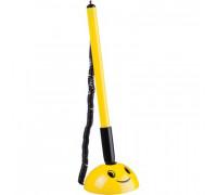 Ручка шариковая на липучке Attache Smile синяя для стола желтый корпус толщина линии 0.5 мм - (490444К)