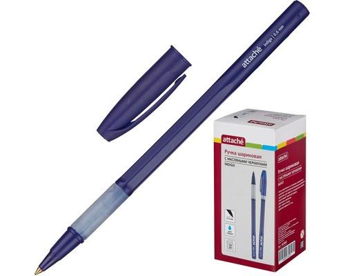 Ручка шариковая масляная Attache Indigo синяя толщина линии 0.5 мм - (563882К)